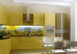 yellow kitchen backsplash ideas colorful glass backsplash ideas adding digital prints to modern