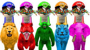 halloween m m candy learn colors with animals m u0026m candy colors for kids learning