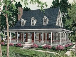 Country Home Floor Plans With Porches One Story House One Story Country House Plans With Porches