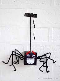 mollymoocrafts cardboard box spiders halloween craft fun for kids
