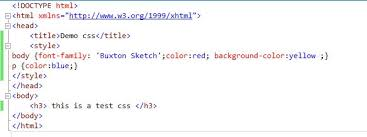 types of cascading style sheets css