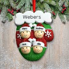 christmas personalized personalized family christmas ornaments giftsforyounow
