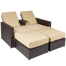 ikayaa 5pcs pe rattan patio garden furniture sofa set outdoor for