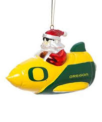 oregon ducks 6 glass mascot football ornament scottish