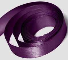 eggplant ribbon satin ribbon plum eggplant 100