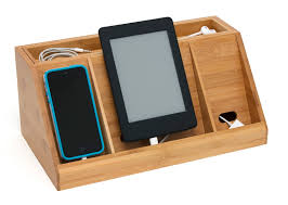 Small Charging Station by All Collections Lipper International Inc Bamboo Deluxe Charging