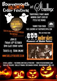 bournemouth halloween cider festival u2013 shelley theatre friday 28th