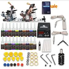 tattoo kit without machine complete tattoo kit needles 2 machine gun power supply ink tip
