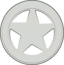 free vector graphic sheriff badge star silver free image on