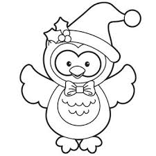 Owl Coloring Pages For Christmas Christmas Coloring Pages Owl Color Pages
