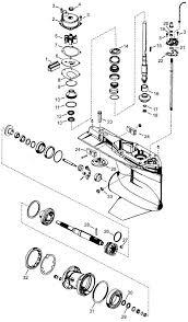 mercury outboard parts drawing 4 stroke verado lower unit