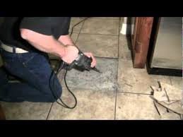 replacing a broken floor tile