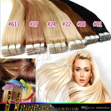 Human Hair Glue In Extensions by Cheap 2 Dark Brown Brazilian Hair Tape Pu Skin Weft Remy Adhesive