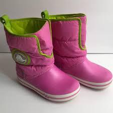 crocs light up boots crocs other winter boots pink sz 13 light up detail poshmark