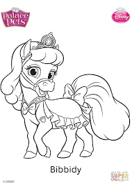 palace pets bibbidy coloring page free printable coloring pages