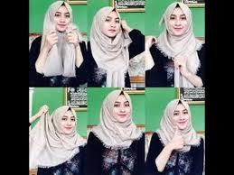 tutorial jilbab ala ivan gunawan cara mudah memakai hijab simple easy hijab tutorial 2 youtube