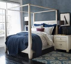 Wall Canopy Bed by Dawson Canopy Bed Weathered White Like The Wall Covering