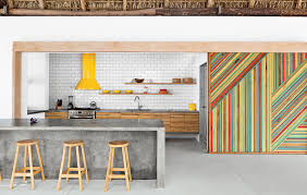 Concrete Kitchen Island by Kitchen Subway Tile Concrete Island