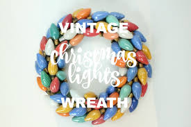 christmas lights on sale eat sleep make vintage christmas lights wreath diy