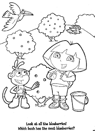 dora booth bluberries garden coloring pages coloring pages
