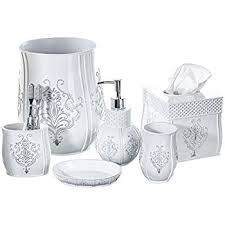 amazon com creative scents vintage white bathroom accessories set