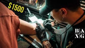 what it u0027s like getting a 1500 tattoo at bang bang nyc mr k