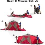 Trail Pop Up Awning Ozark Trail 21 U0027 X 10 U0027 3 Room Instant Tent With Awning Sleeps 12