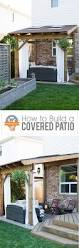 a diy stenciled cement patio using the fabiola tile stencil from