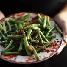sichuan style dry fried green beans gan bian si ji recipe saveur