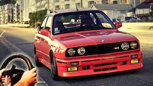 cars bmw red illegal street drifting u0026 racing city car driving bmw m3 e30