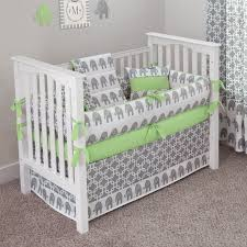 Grey And Green Crib Bedding Ele Green Crib Bedding Set Maternity Pinterest Bed Sets