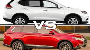 2016 Nissan X Trail Vs 2016 Mitsubishi Outlander Youtube