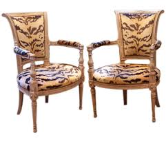 Antique Armchairs Authentic Antique Vintage Chairs Old Plank French Louis Xv Style