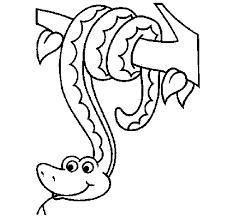 Coloriage de Serpent pendu à un arbre pour Colorier  Coloritoucom