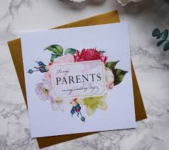 parents on my wedding day thank you card by sweet pea sunday