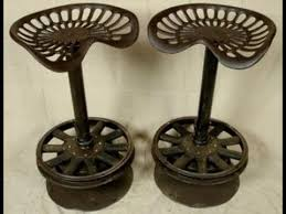 Tractor Seat Bar Stools For Sale Adjustable Tractor Seat Bar Stools Youtube