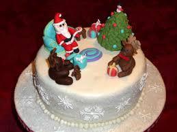 christmas cake decoration ideas images