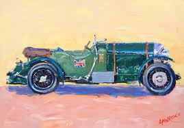 classic bentley bentley 4 5 litre classic car john lawrence paintings