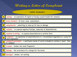 writing a complaint letter should not be complicated or scary