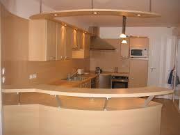 meuble cuisine arrondi cuisine avec bar arrondi cuisine en image