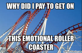 Roller Coaster Meme - the emotional roller coaster that is returning to college park