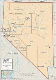 map of nevada state and county maps of nevada