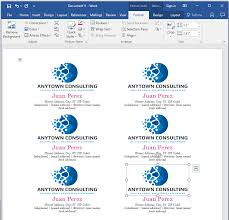 Standard Business Card Format How To Make Your Own Business Cards In Word