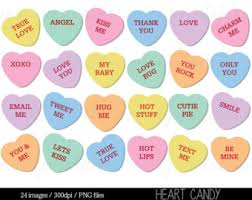 sweethearts candy candy heart clipart etsy