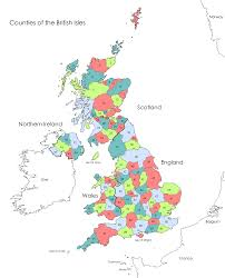 Map Of British Isles Current Counties In The Uk Britainvisitor Travel Guide To Britain