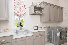 Laundry Room Cabinets With Sinks Gray Laundry Room Cabinets With Sink Transitional