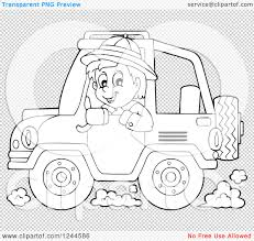 yellow jeep clipart clipart of a black and white boy driving a jeep royalty free