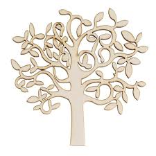 new wooden mdf tree shape decor for family tree decorations wooden