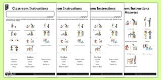french classroom instructions activity sheet french activity