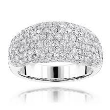 rings pave images Ladies diamond rings 14k gold pave round diamonds band 2 75ct g vs jpg